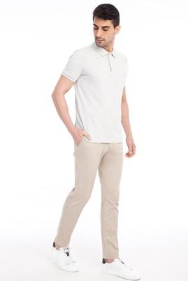 Erkek Giyim - Bej 48 Beden Saten Spor Pantolon