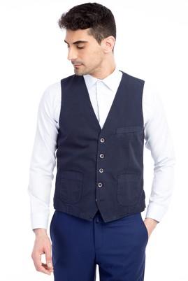 Erkek Giyim - Lacivert 46 Beden Klasik Yelek