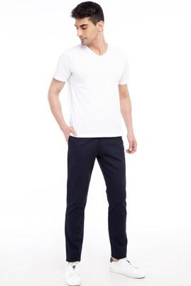 Erkek Giyim - Lacivert 46 Beden Slim Fit Desenli Spor Pantolon