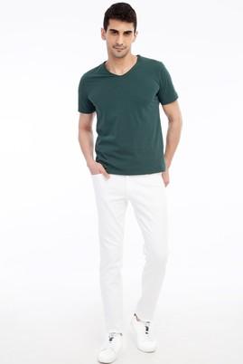 Erkek Giyim - Beyaz 54 Beden Slim Fit Spor Pantolon