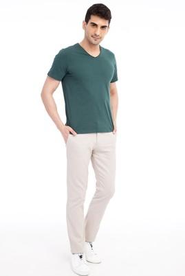 Erkek Giyim - Krem 50 Beden Spor Pantolon