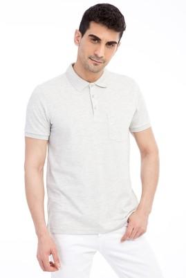 Erkek Giyim - Orta füme L Beden Polo Yaka Regular Fit Tişört