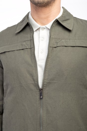 Erkek Giyim - Mevsimlik Keten Mont