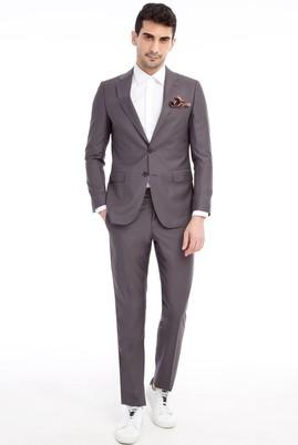 Erkek Giyim - Orta füme 52 Beden Klasik Takım Elbise