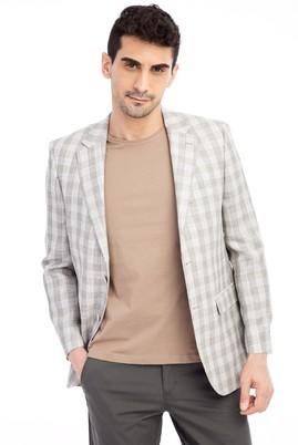 Erkek Giyim - TOPRAK 56 Beden Ekose Ceket