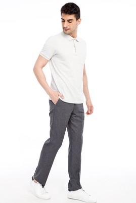 Erkek Giyim - Orta füme 56 Beden Klasik Desenli Pantolon