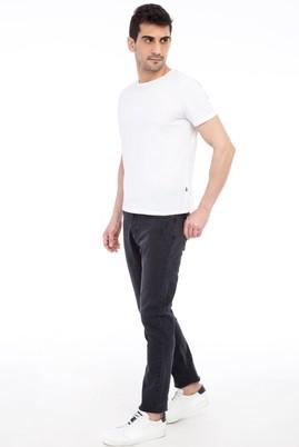 Erkek Giyim - Füme Gri 52 Beden Slim Fit Denim Pantolon