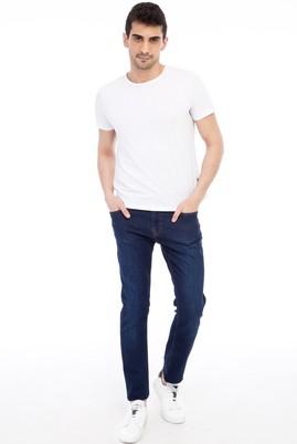 Erkek Giyim - Mavi 52 Beden Slim Fit Denim Pantolon