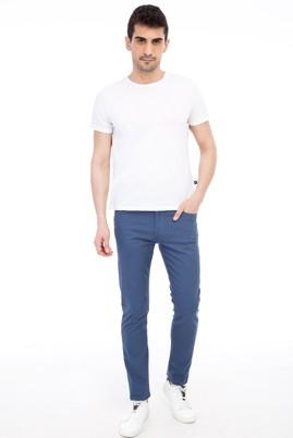 Erkek Giyim - Mavi 50 Beden Slim Fit Spor Pantolon