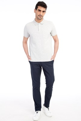 Erkek Giyim - Lacivert 48 Beden Saten Spor Pantolon