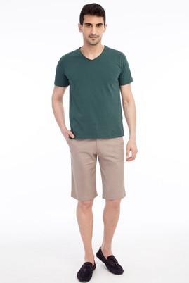 Erkek Giyim - VİZON 50 Beden Slim Fit Bermuda Şort