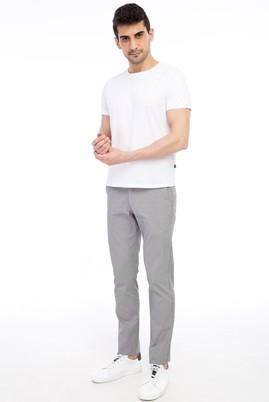 Erkek Giyim - Orta füme 46 Beden Slim Fit Desenli Spor Pantolon