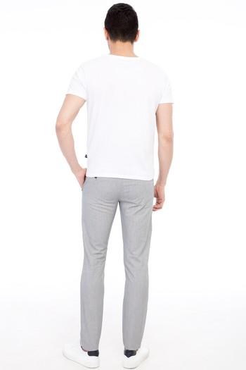 Erkek Giyim - Slim Fit Çizgili Spor Pantolon
