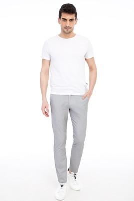 Erkek Giyim - Orta füme 48 Beden Slim Fit Çizgili Spor Pantolon
