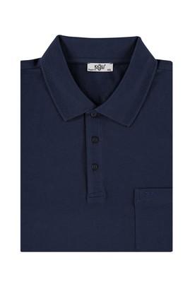 Erkek Giyim - Lacivert 4X Beden King Size Polo Yaka Tişört