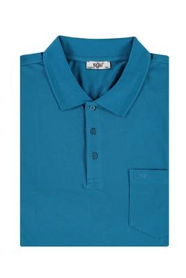 Erkek Giyim - Petrol 4X Beden King Size Polo Yaka Tişört