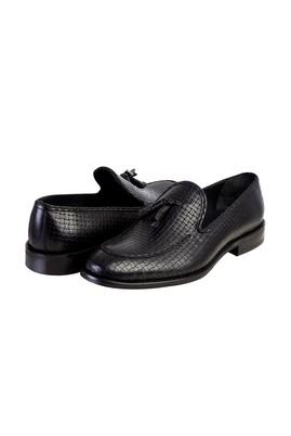 Erkek Giyim - Siyah 43 Beden Püsküllü Klasik Ayakkabı