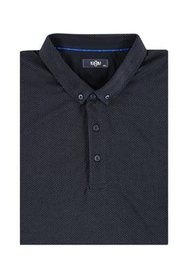 Erkek Giyim - Mavi 4X Beden King Size İtalyan Polo Yaka Tişört