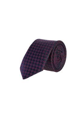 Erkek Giyim - Lacivert 165 Beden Desenli İnce Kravat