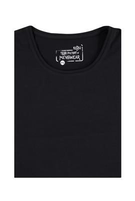 Erkek Giyim - Siyah 6X Beden King Size Bisiklet Yaka Tişört
