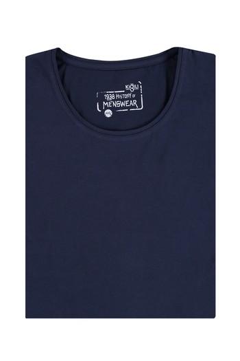 Erkek Giyim - Büyük Beden Bisiklet Yaka Tişört
