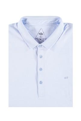 Erkek Giyim - Mavi 4X Beden King Size Polo Yaka Süprem Tişört