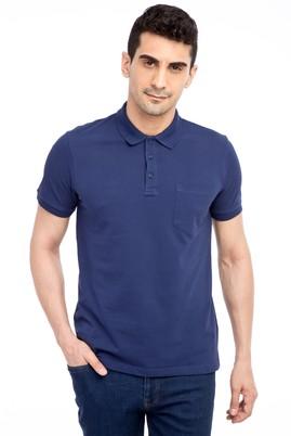 Erkek Giyim - Lacivert L Beden Polo Yaka Regular Fit Tişört