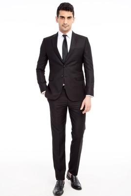 Erkek Giyim - Siyah 46 Beden Slim Fit Takım Elbise
