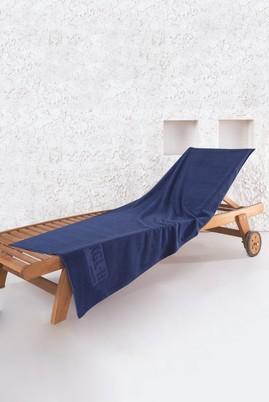 Erkek Giyim - Lacivert STD Beden Jakarlı Şezlong Havlusu (65x180)