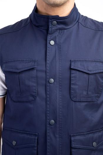 Erkek Giyim - Dik Yaka Spor Yelek
