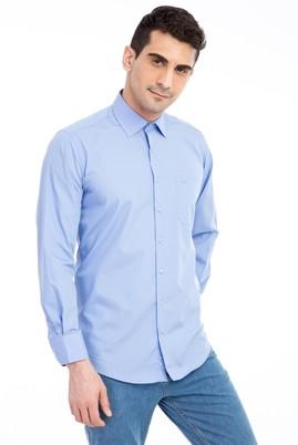 Erkek Giyim - MAVİ XL Beden Uzun Kol Klasik Gömlek