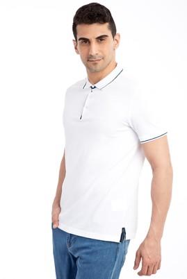 Erkek Giyim - Beyaz XXL Beden Polo Yaka Regular Fit Tişört
