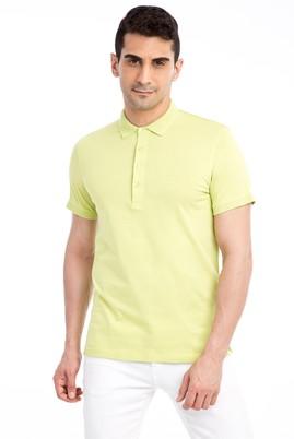 Erkek Giyim - Acık Yesıl S Beden Polo Yaka Slim Fit Tişört