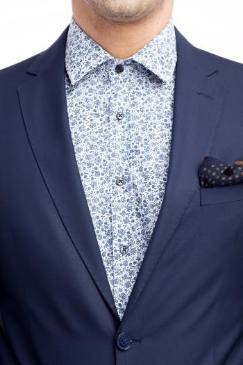 Erkek Giyim - Süper Slim Fit Klasik Takım Elbise