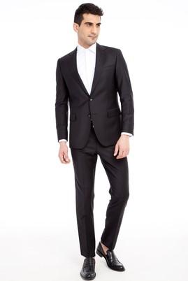 Erkek Giyim - Siyah 52 Beden Klasik Takım Elbise
