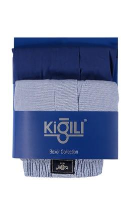 Erkek Giyim - Açık Mavi XL Beden 2'li Desenli Boxer