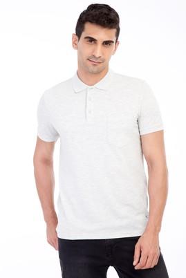 Erkek Giyim - Orta füme 3X Beden Polo Yaka Regular Fit Tişört