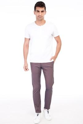 Erkek Giyim - VİZON 46 Beden Slim Fit Desenli Spor Pantolon