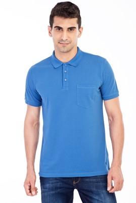 Erkek Giyim - Mavi XL Beden Polo Yaka Klasik Regular Fit Tişört