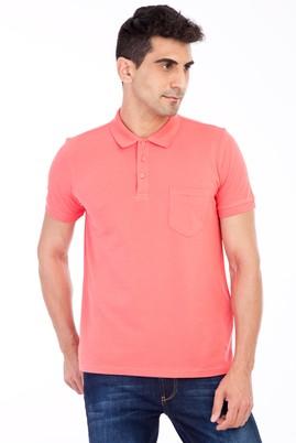 Erkek Giyim - Kırmızı S Beden Polo Yaka Klasik Regular Fit Tişört