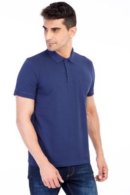 Erkek Giyim - Lacivert M Beden Polo Yaka Klasik Regular Fit Tişört