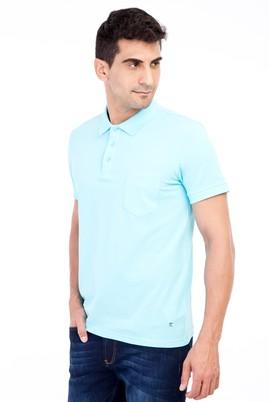 Erkek Giyim - Mavi 3X Beden Polo Yaka Klasik Regular Fit Tişört