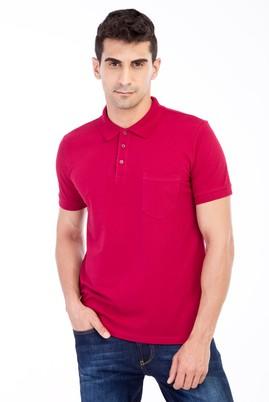 Erkek Giyim - Kırmızı 3X Beden Polo Yaka Klasik Regular Fit Tişört