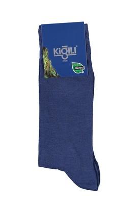 Erkek Giyim - Mavi 39 Beden Bambu Çorap