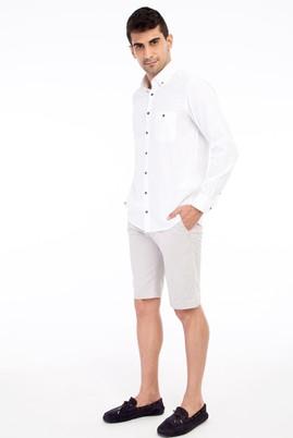 Erkek Giyim - AÇIK GRİ 48 Beden Bermuda Şort