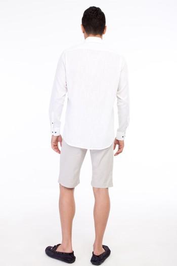 Erkek Giyim - Slim Fit Bermuda Şort