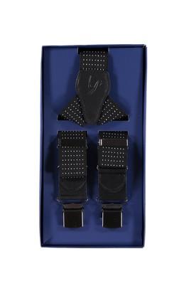 Erkek Giyim - Siyah STD Beden Kalın Desenli Pantolon Askısı