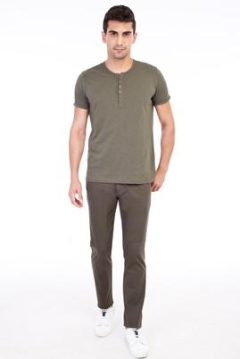 Erkek Giyim - HAKİ 54 Beden Desenli Spor Pantolon