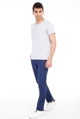 Erkek Giyim - Lacivert 52 Beden Desenli Spor Pantolon