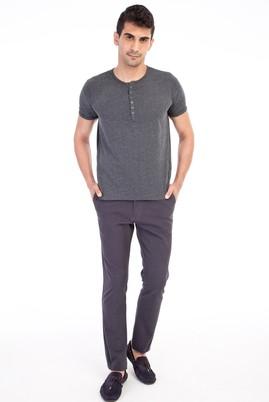 Erkek Giyim - Antrasit 52 Beden Desenli Spor Pantolon